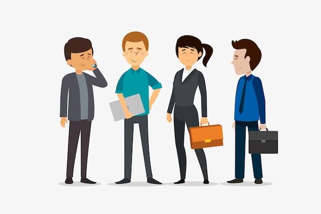 Pessoas de negócios trabalhando juntos Vetor grátis