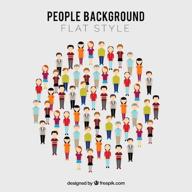 Pessoas em círculo com design plano Vetor grátis