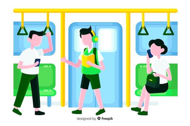 Pessoas, metrô Vetor grátis