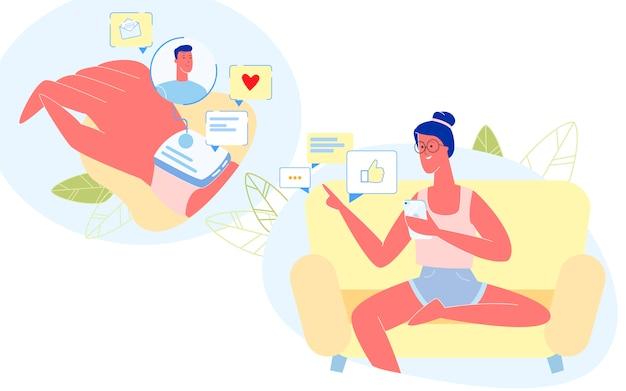 Pessoas que usam dispositivos de smartphones e relógios inteligentes. Vetor Premium