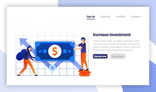 Pessoas segurando dinheiro para aumentar o investimento Vetor Premium
