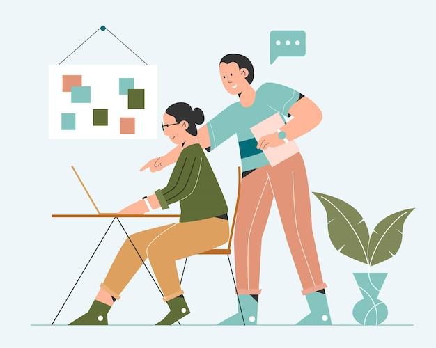 Pessoas trabalhando juntas Vetor Premium