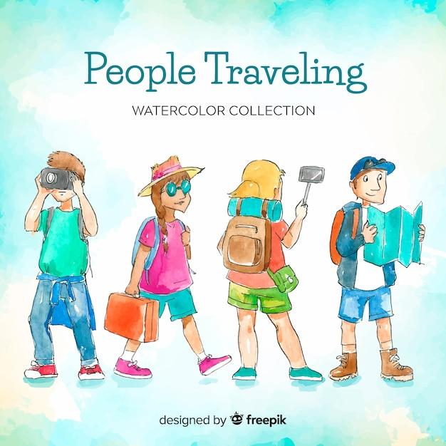 Pessoas viajando Vetor grátis