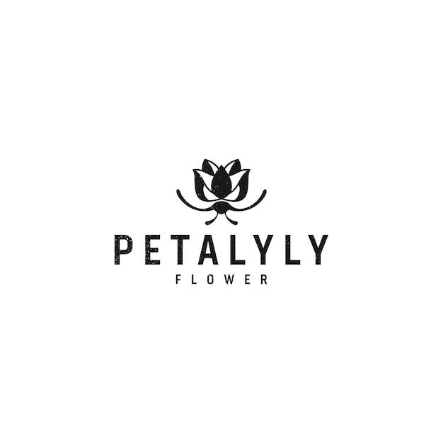 Petalyly logo design Vetor Premium