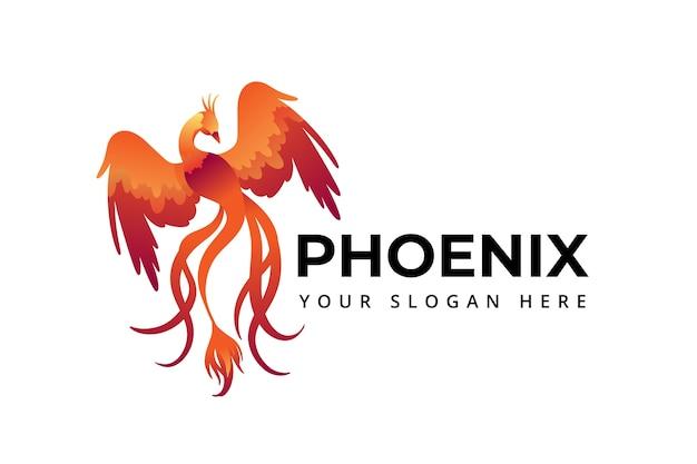 Phoenix logo simbolo Vetor Premium