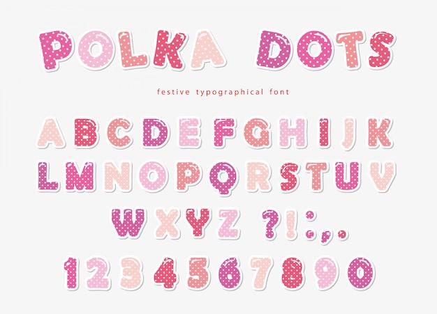 Pia batismal bonito das bolinhas no rosa pastel. Vetor Premium