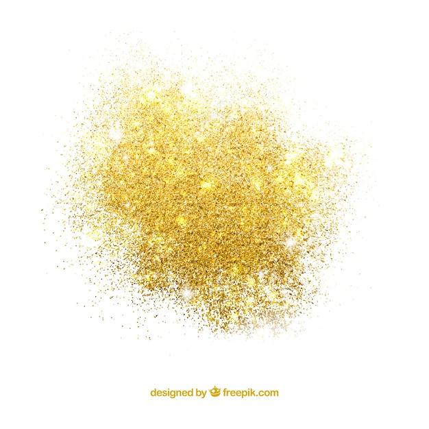 Pilha de glitter em estilo dourado Vetor Premium