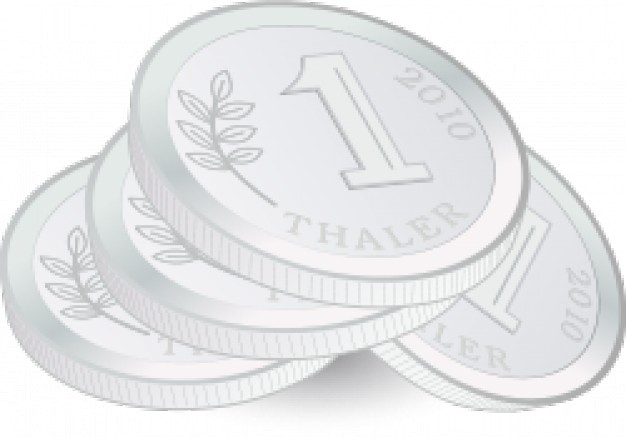 pilha de moedas Vetor grátis