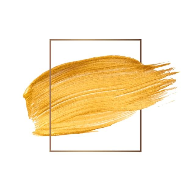 Pincelada de ouro Vetor grátis