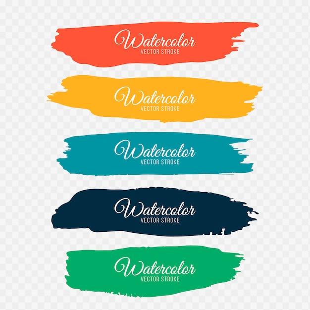 Pinceladas coloridas Vetor grátis