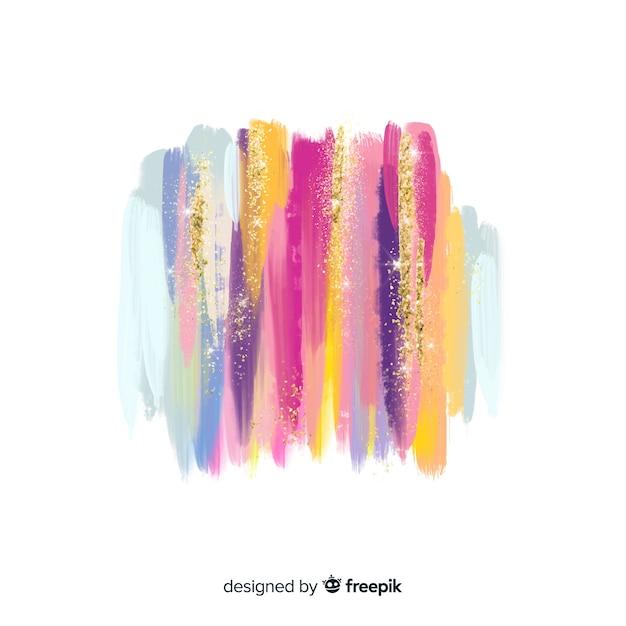 Pinceladas de aquarela com glitter Vetor grátis