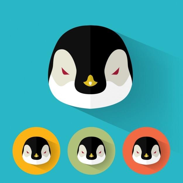 Pinguim projeta a coleção Vetor grátis