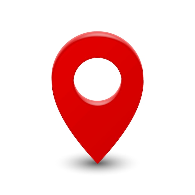 Pino de ponteiro de mapa 3d Vetor Premium