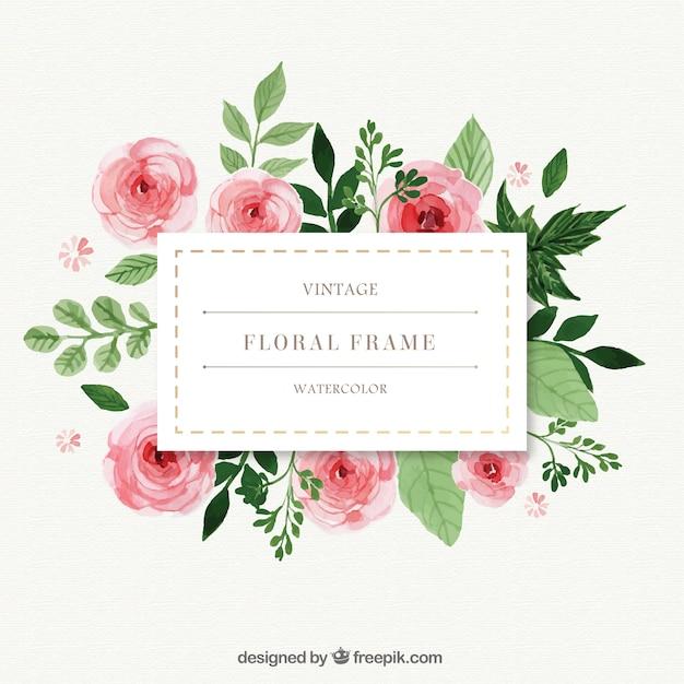 Plan Your Wedding Me My Big: Pintados à Mão Rosas Com Frame Das Folhas