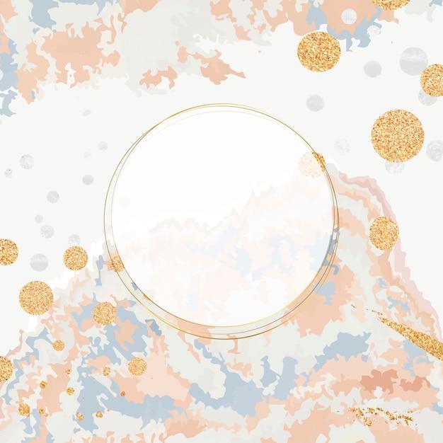 Pintar derramar fundo com vetor de moldura redonda Vetor grátis