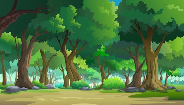 Pintar ilustrações na natureza e natural Vetor Premium