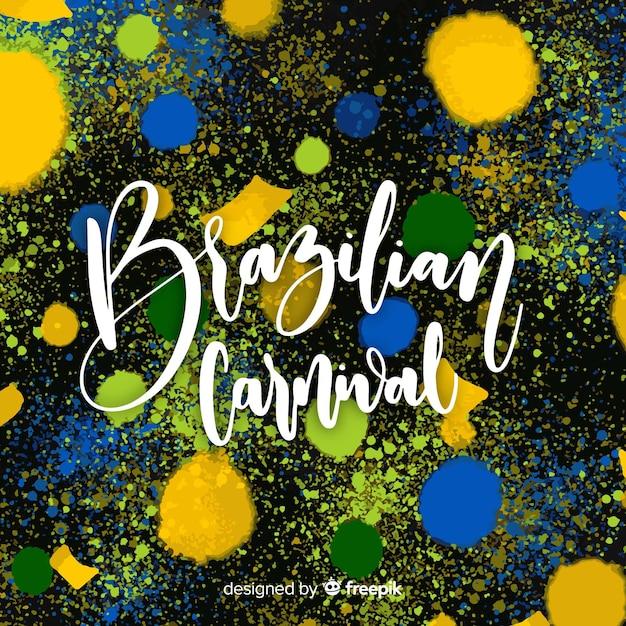 Pintar manchas fundo de carnaval brasileiro Vetor grátis