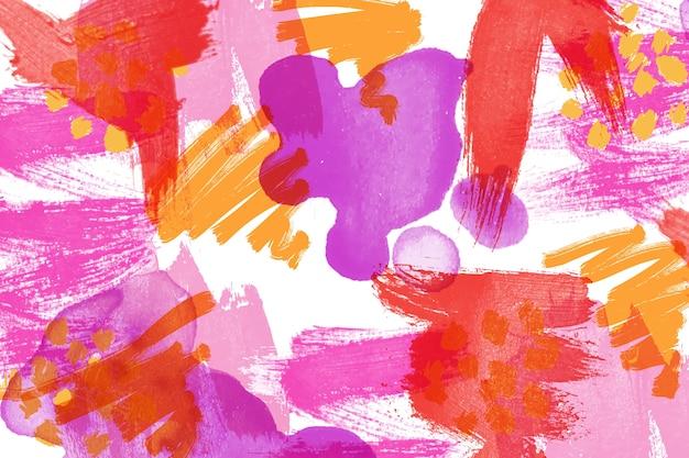 Pintura abstrata em estilo colorido Vetor grátis