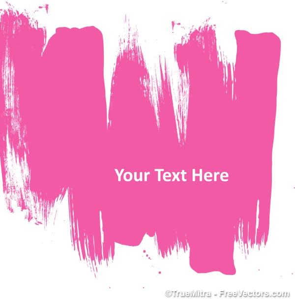 Pintura abstrata rosa Vetor grátis