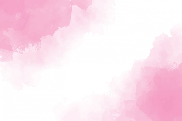 Pintura de fundo rosa aquarela respingo molhado Vetor Premium