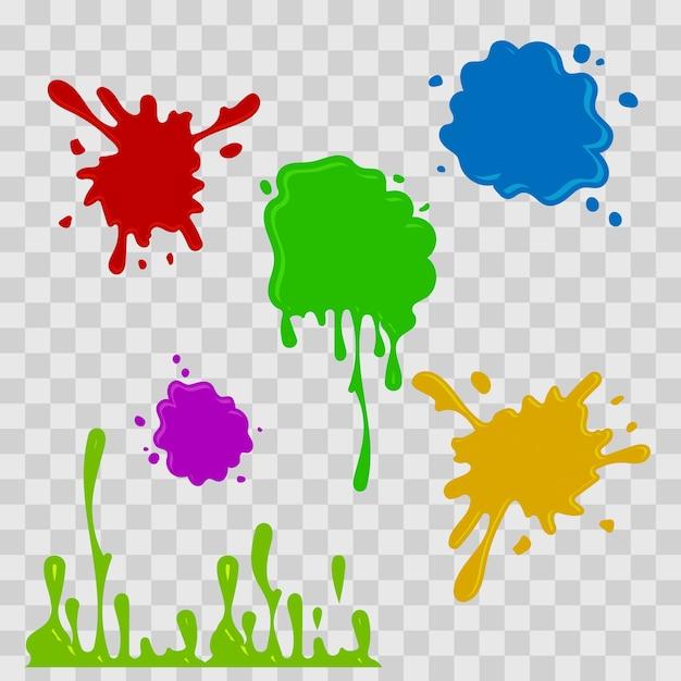 Pintura, gota, abstratos, ilustração Vetor Premium