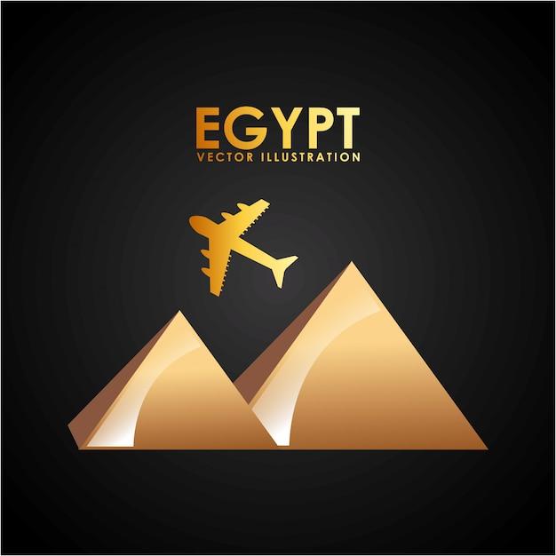 Pirâmide do egito Vetor Premium