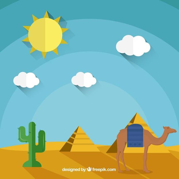 Pirâmides egípcias Vetor grátis