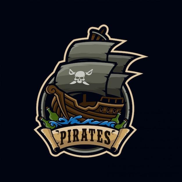 Pirates esport logo Vetor Premium