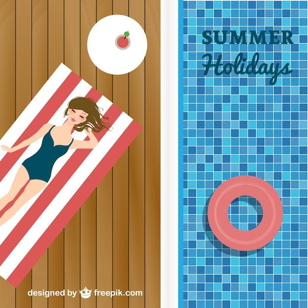 Piscina férias de verão vetor Vetor grátis