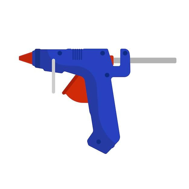 Pistola de cola Vetor Premium