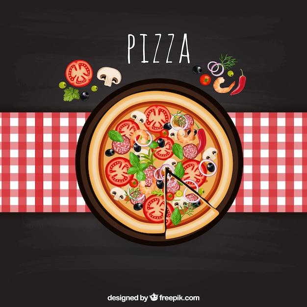 Pizza italiana Vetor grátis