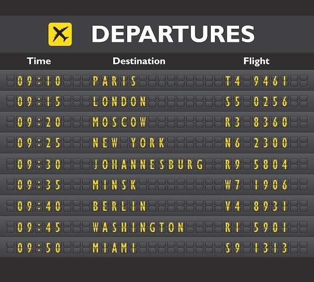 Placa de aeroporto Vetor grátis