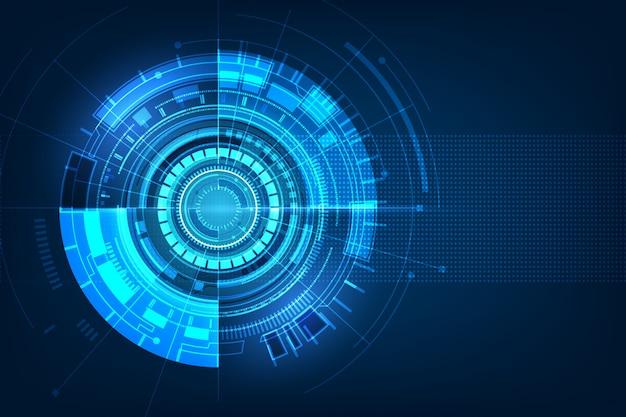 Placa de circuito futurista abstrata Vetor Premium