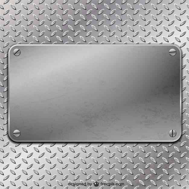 Placa de metal do vetor Vetor grátis
