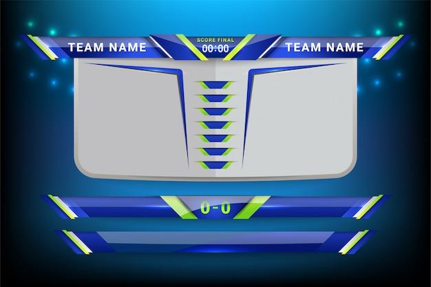 Placar de placar esportivo e terços inferiores Vetor Premium