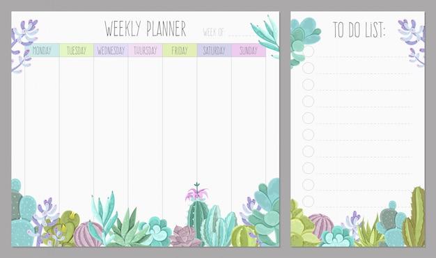 Planejador semanal Vetor grátis