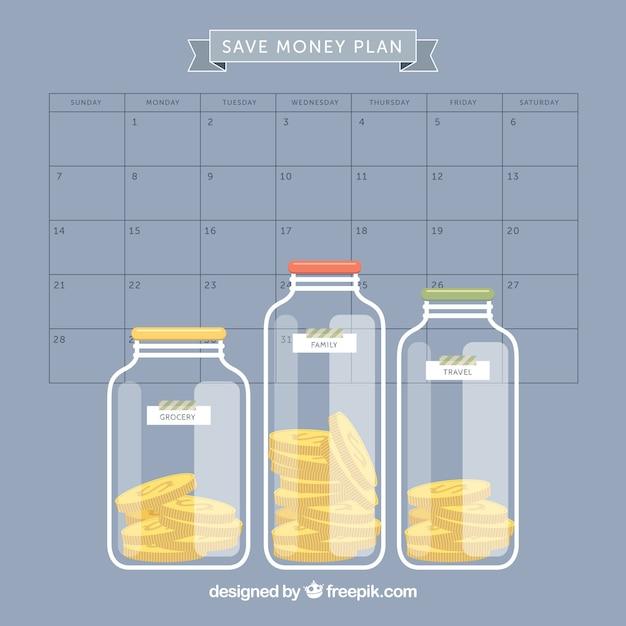 Planejando economizar dinheiro Vetor grátis