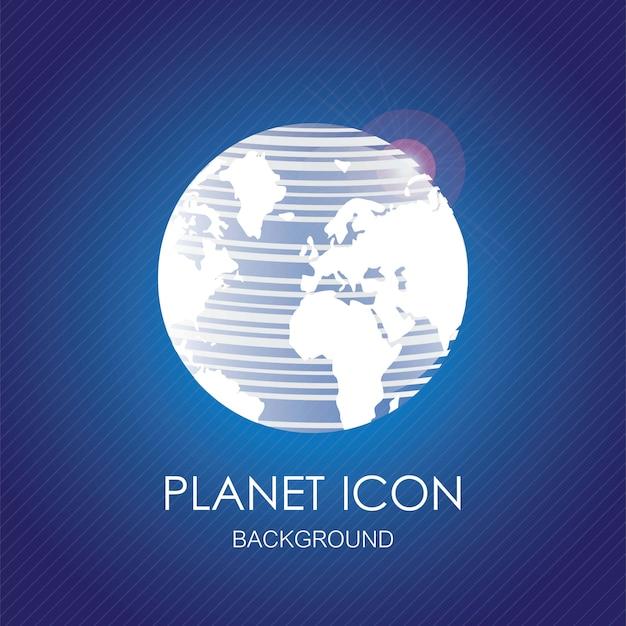 Planeta brilhante formada por linhas brancas. ilustração vetorial Vetor Premium