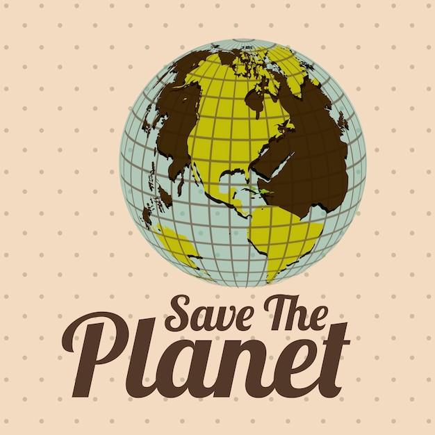 Planeta terra Vetor Premium