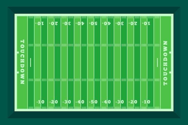 Plano de campo de futebol americano em vista superior Vetor grátis