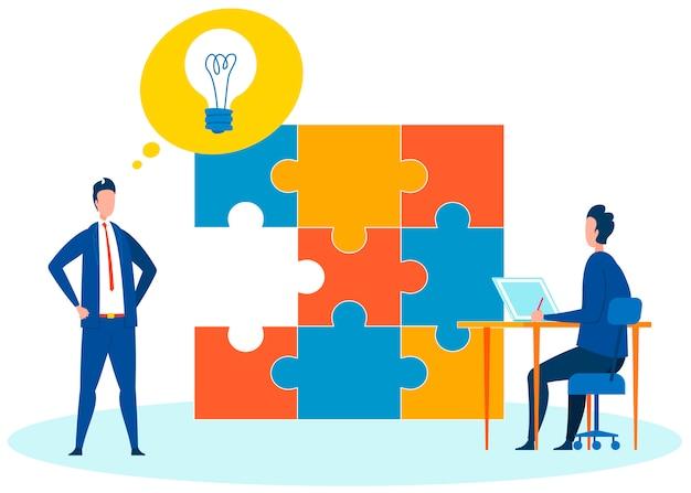 Plano de conclusão do projeto plano ilustração Vetor Premium