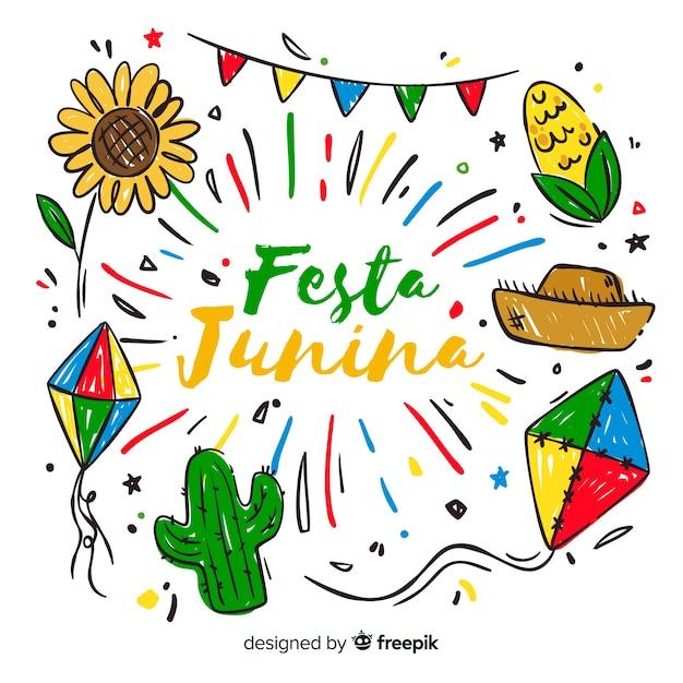 Plano de festa junina fundo Vetor grátis