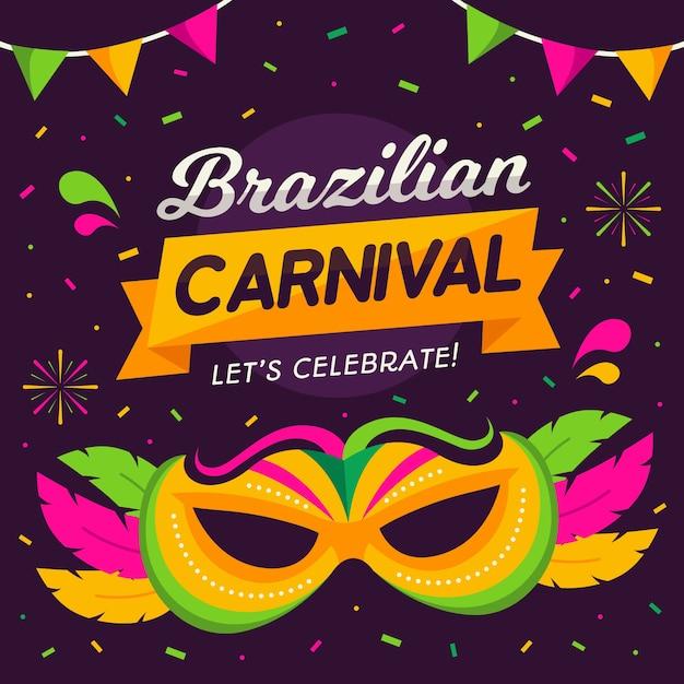 Plano de fundo carnaval brasileiro Vetor grátis