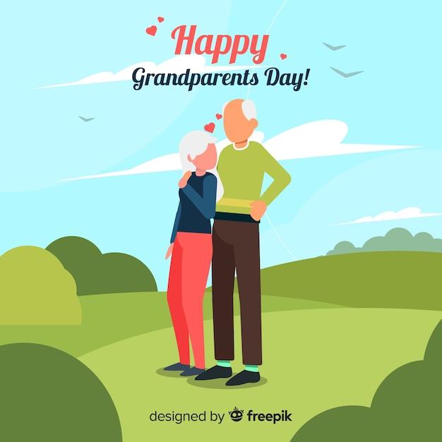 Plano de fundo dia avós Vetor grátis