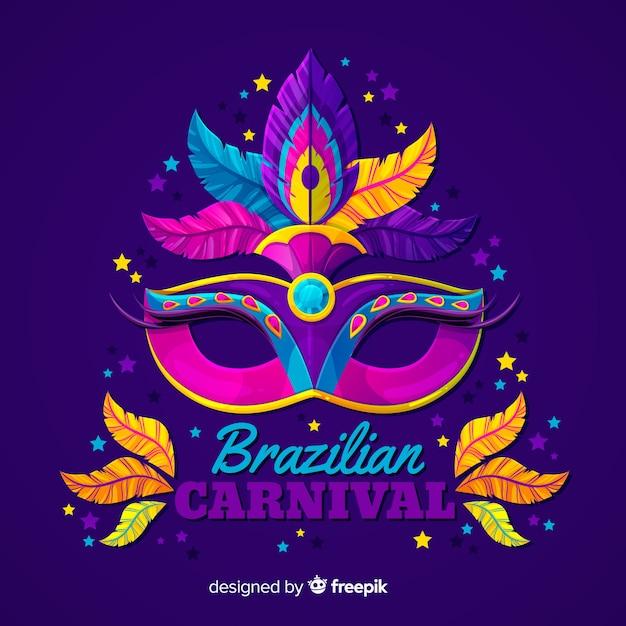 Plano de fundo do carnaval brasileiro Vetor grátis