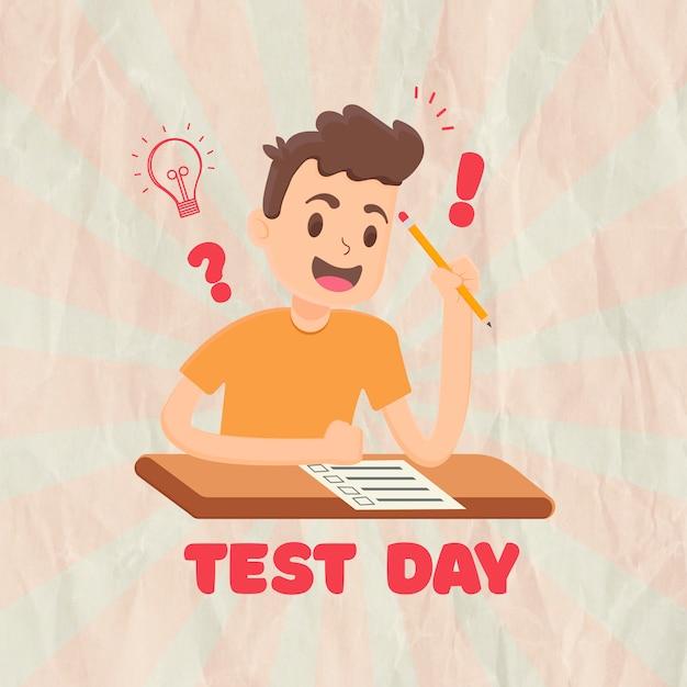 Plano de fundo do dia de teste Vetor Premium
