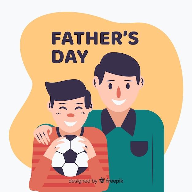 Plano de fundo do dia dos pais Vetor grátis