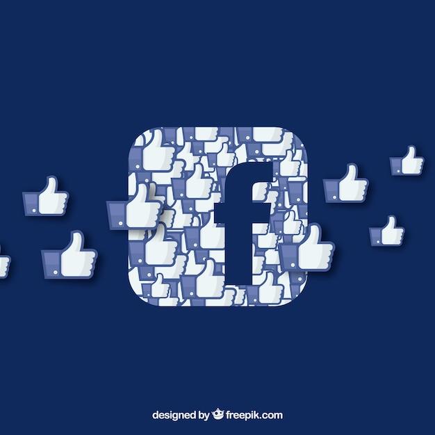 Plano de fundo do facebook com ícones Vetor grátis