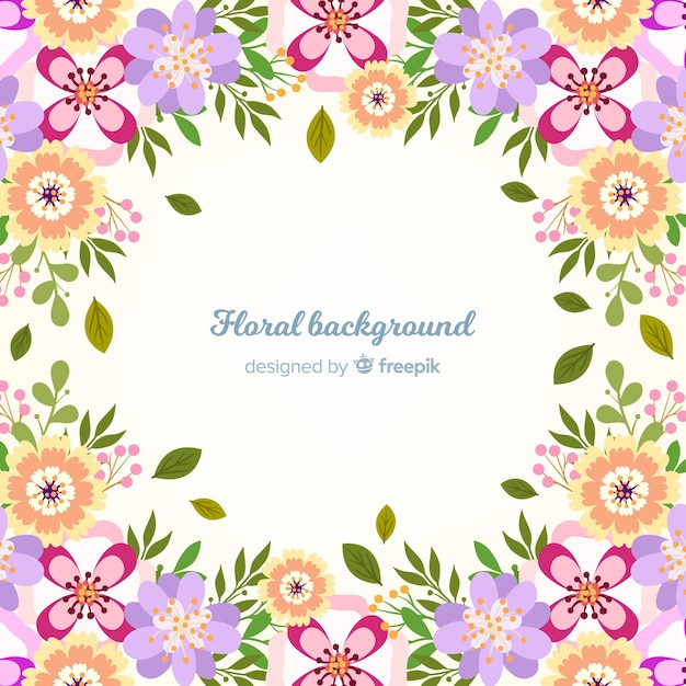 Plano de fundo floral Vetor grátis