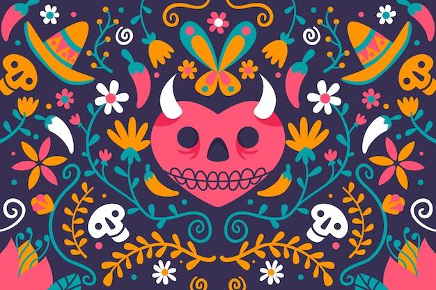 Plano de fundo multicolorido mexicano Vetor grátis